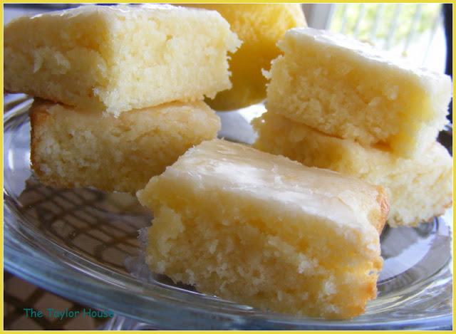 Lemon Brownies with a Lemon Glaze