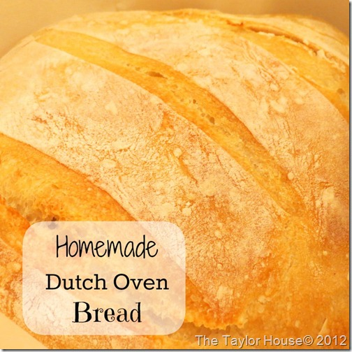 Homemade Dutch Oven Bread Recipe, perfect for soups