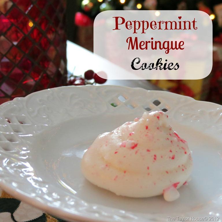 Peppermint meringue cookie recipe