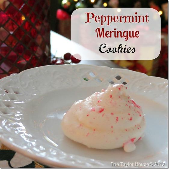peppermint meringue
