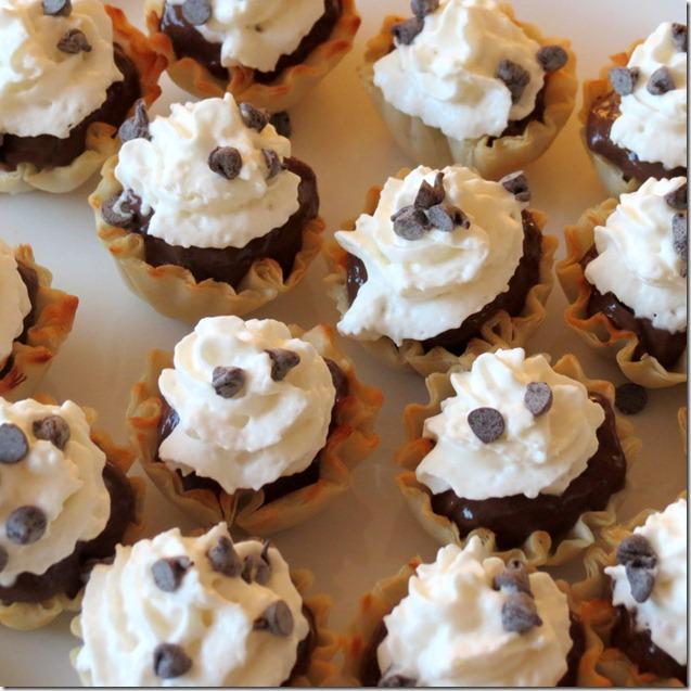 Quick and Easy Mini Chocolate Pie bites recipe