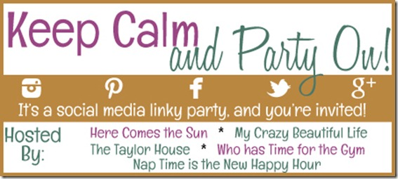 KCPOButton1 thumb Keep Calm & Party On Social Media Linky Party {#1}