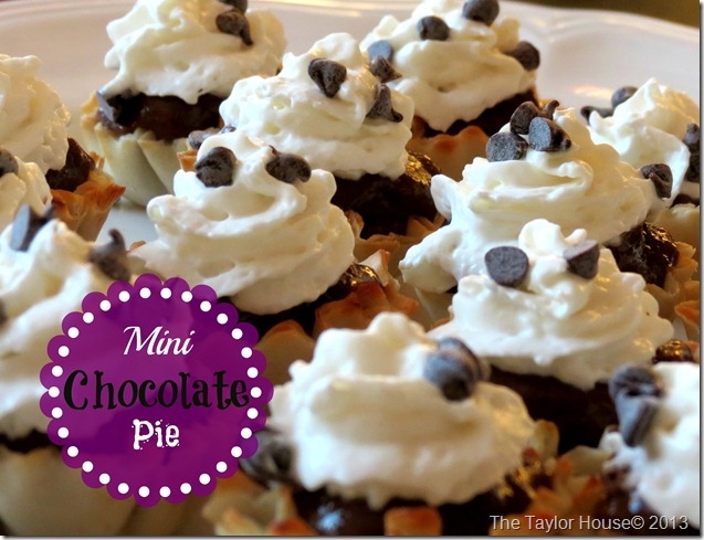 Quick and Easy Mini Chocolate Pie bites recipe