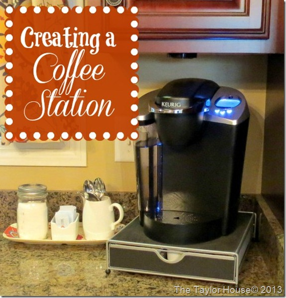 coffeestation thumb How to create an Organized Coffee Station
