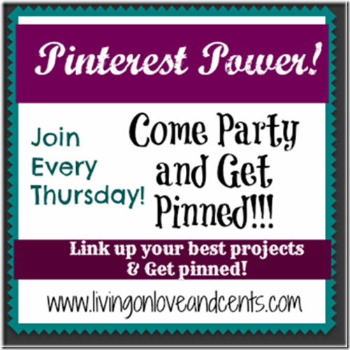 Pinterest Power Party - Living on Love and Cents