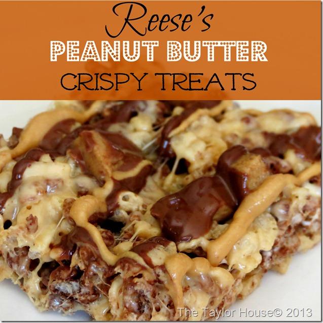 reeses pb treats thumb Reese's Peanut Butter Crispy Treats recipe