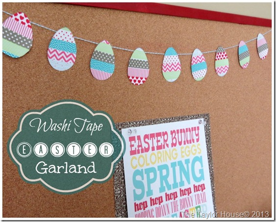 Easy Washi Tape Easter Egg Garland Tutorial