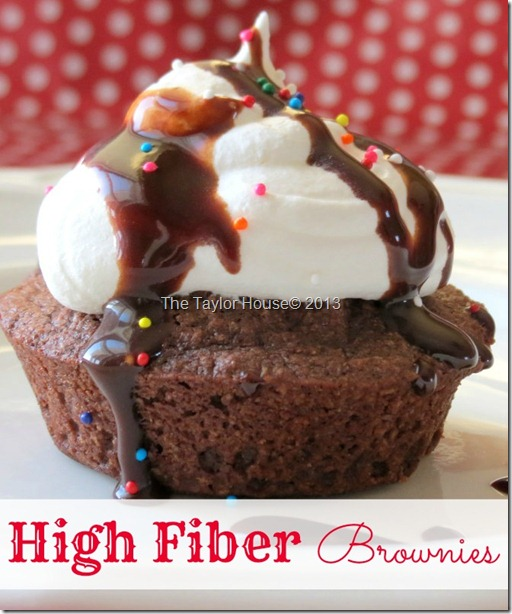 Easy Weight Watchers High Fiber Brownies