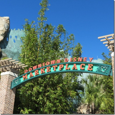 Downtown Disney Marketplace, free Florida family vacation fun