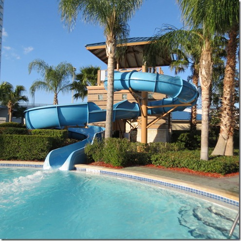 Waterslide at the Hilton Hotel in Orlando
