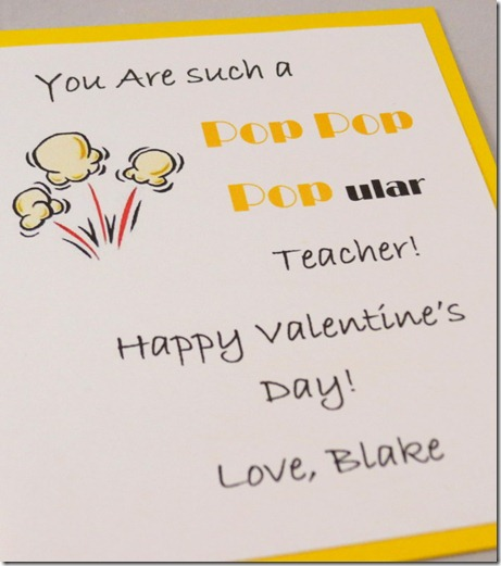 Popular Teacher gift idea with movie gift card and treats