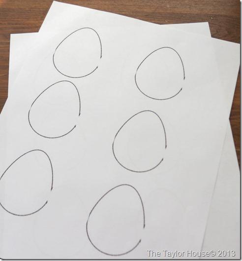 Easy Washi Tape Easter Egg Garland Tutorial