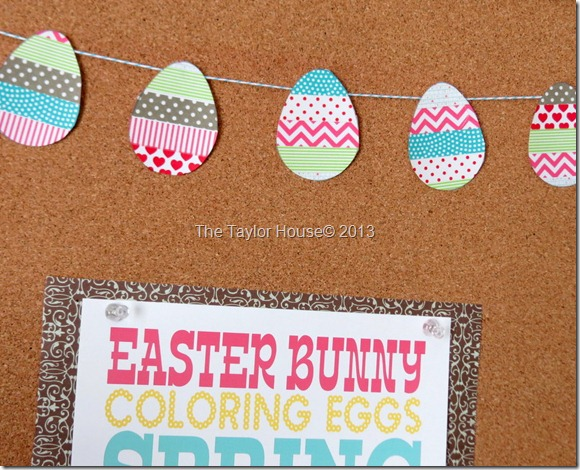 Easy Washi Tape Egg Garland Tutorial