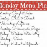 Monday Menu Plan2 150x150 Monday Menu Plan & Free Printable Menu