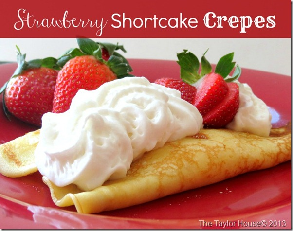 crepes1 thumb Strawberry Shortcake Crepes Recipe