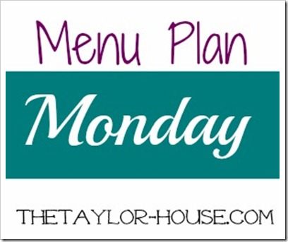 Monday Menu Plan ideas #menumonday