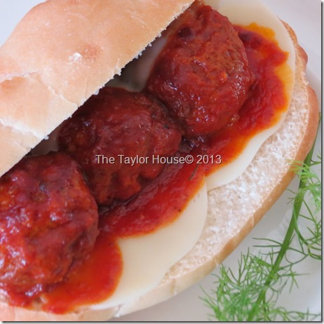 Meatball and Provolone Sub Sandwich