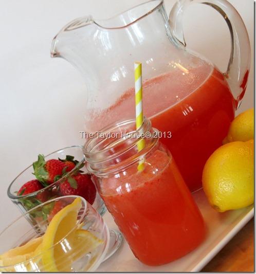 Homemade Strawberry Lemonade Recipe - The Taylor House