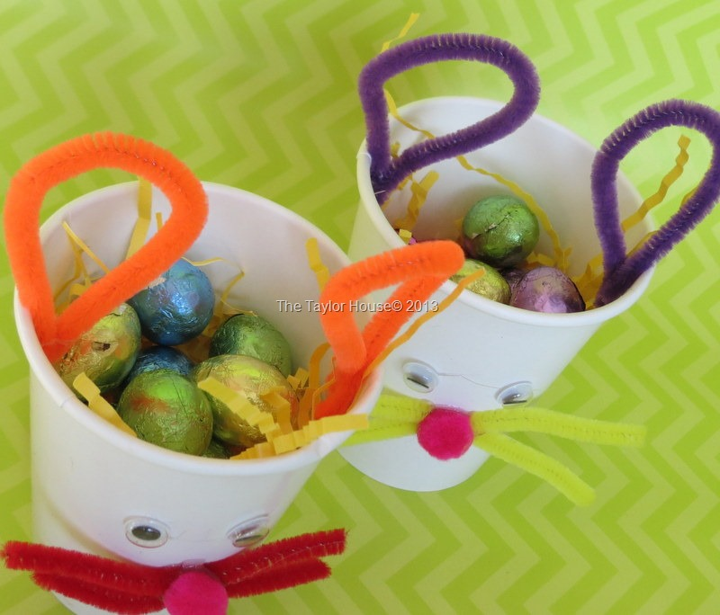 Kids Crafts Easter Bunny Treat Cup The Taylor House