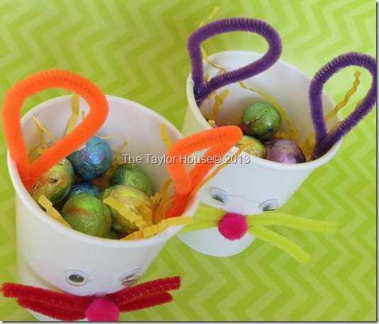 Easter Bunny Treat Cups, Kids Easter Crafts
