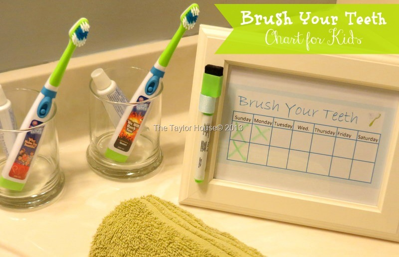 picture about Printable Tooth Brushing Charts identified as How toward Generate a Lovable Printable Small children Chart for brushing tooth