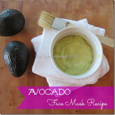 Amazing Avocado used in a Face Mask Recipe