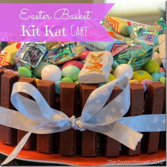 easterbasketcake thumb Easter Basket Kit Kat Cake