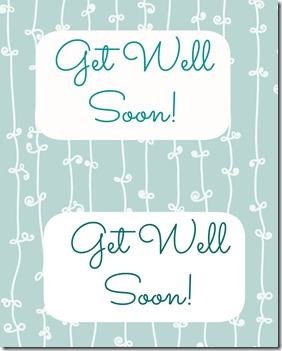 Get Well Soon Printable Tags