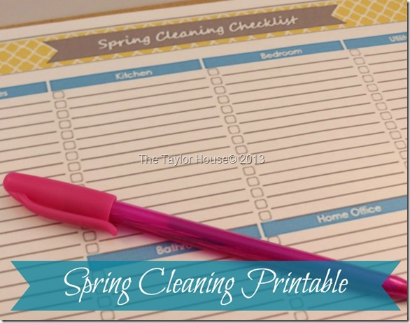 Spring Cleaning Printable Checklist