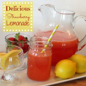 strawberry lemonade1 300x300 Homemade Strawberry Lemonade Recipe