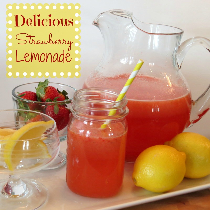 Homemade Strawberry Lemonade Recipe - The Taylor House