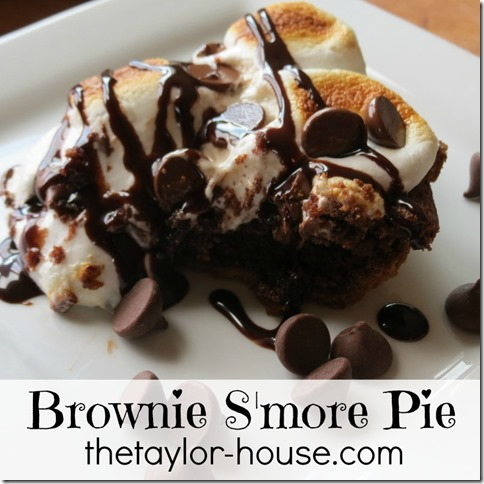 Chocolate Pie Recipe:Smores Brownie Pie