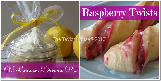 Mini Lemon Dream Pie, Raspberry Twist