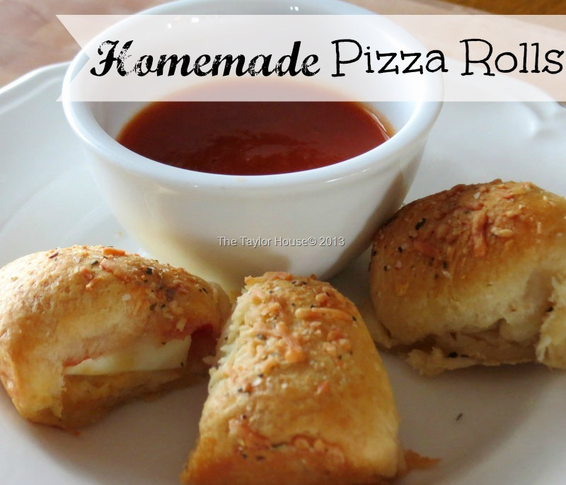 Homemade Pizza Rolls - The Taylor House