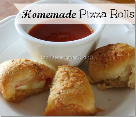 Pizza Rolls, Easy Recipes, www.thetaylor-house.com