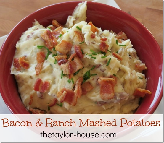 BaconRanchtaters thumb Cheesy Bacon and Ranch Mashed Potatoes