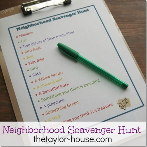 neighborhoodhunt thumb Summer Activities for Kids Series: Neighborhood Scavenger Hunt