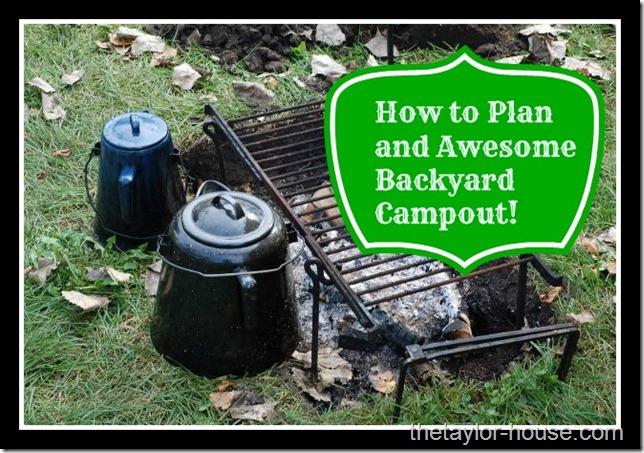 Backyard Camping Tips : Backyard Camping with Kids Ideas