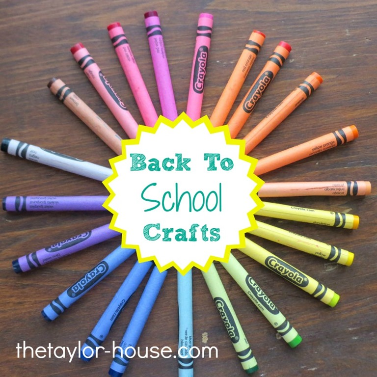 20 Back To School Craft Activities | The Taylor House