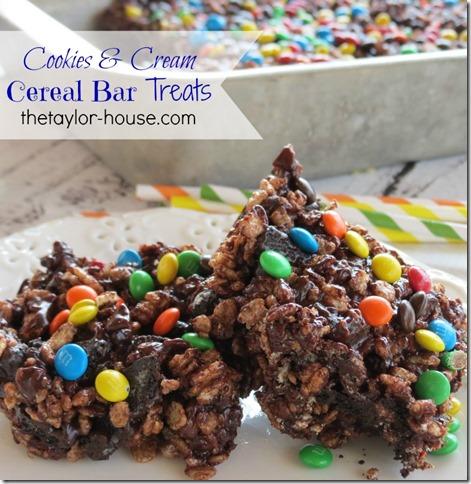cookiesandcreamtreats thumb Cookies and Cream Cereal Bar Treats