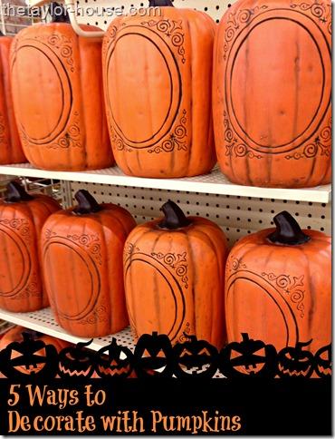 fall4 thumb 5 Ways to Decorate Pumpkins