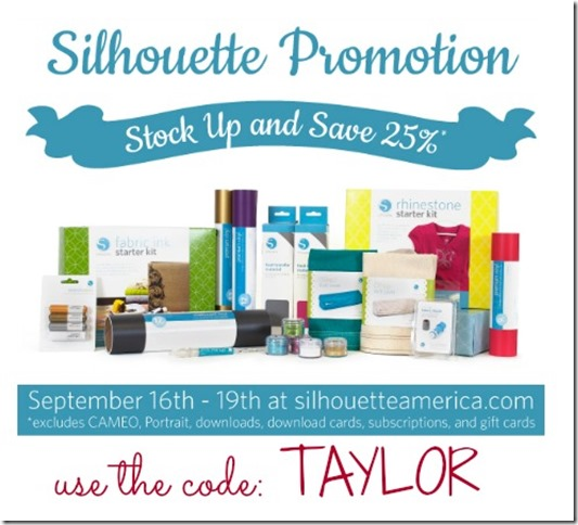 Silhouette 25% Promotion