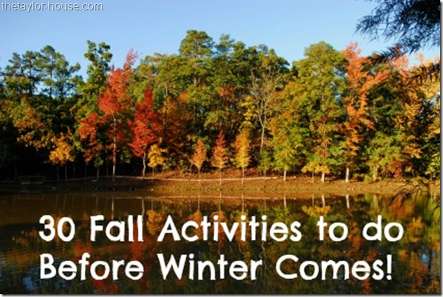 fall activities, fall bucket list