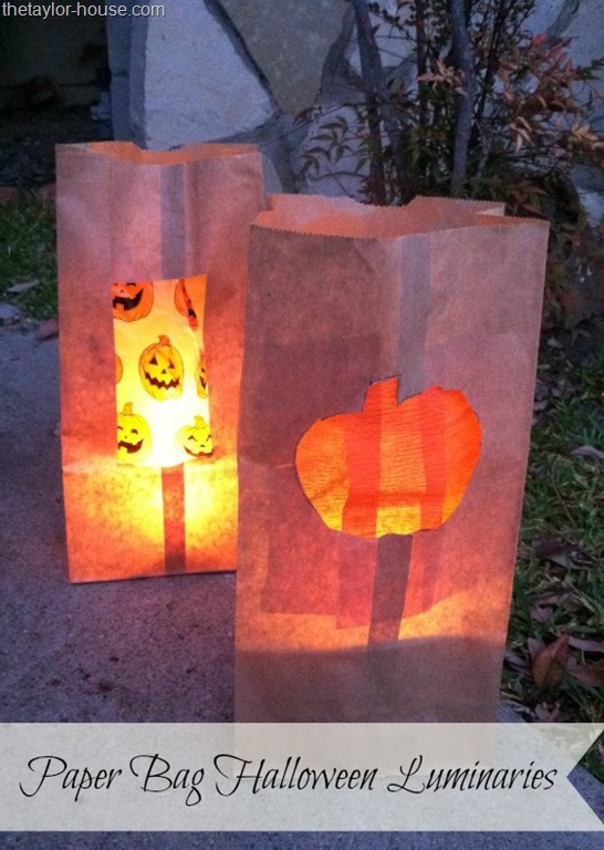 Such a simple idea but they will look great! - paper bag halloween luminaries