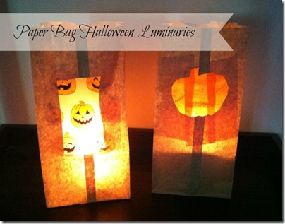 Paper Bag Halloween Luminaries