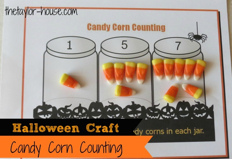 photograph relating to Free Printable Halloween Crafts called Halloween Little ones Video game: Sweet Corn Counting Totally free Printable