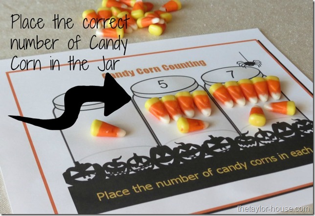Halloween Crafts, Candy Corn counting