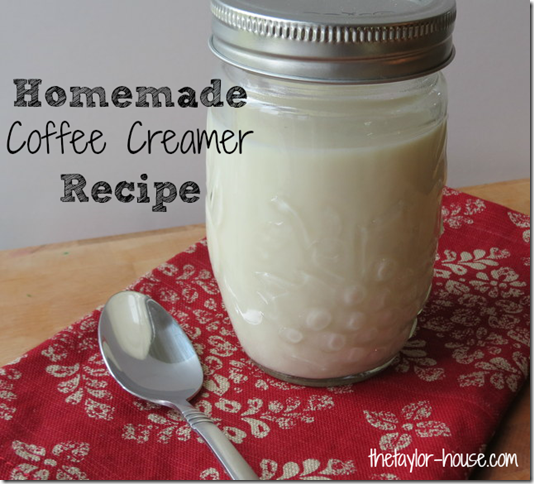 Homemade Coffee Creamer, Coffee Creamer