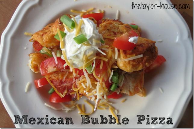 Mexican Bubble Pizza, Bubble Pizza