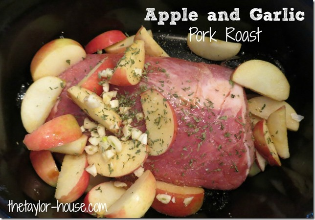 Slow Cooker Recipe-Apple Garlic Pork Shoulder Roast